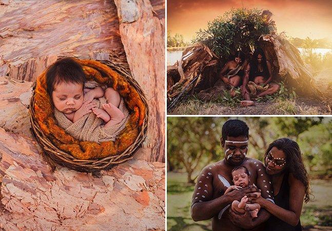 Série de fotos inspiradora registra a beleza dos rituais de maternidade aborígenes