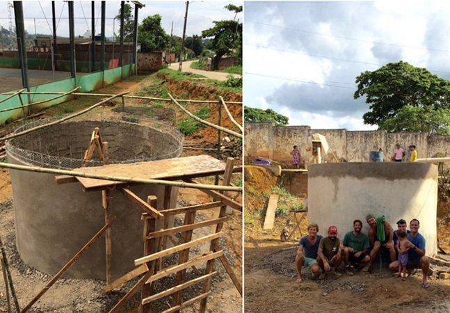 Voluntários erguem (em 10 dias, na raça)  cisterna para amenizar falta de  água nos arredores de Mariana
