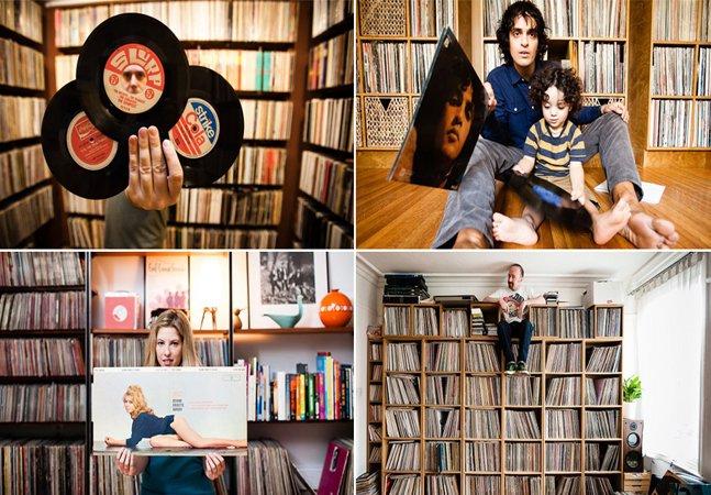 Série de fotos mostra a paixão  e a obsessão de colecionadores  de vinil pelo mundo