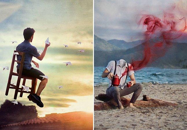 Jovem expressa sua inquietude com série de fotos surreal