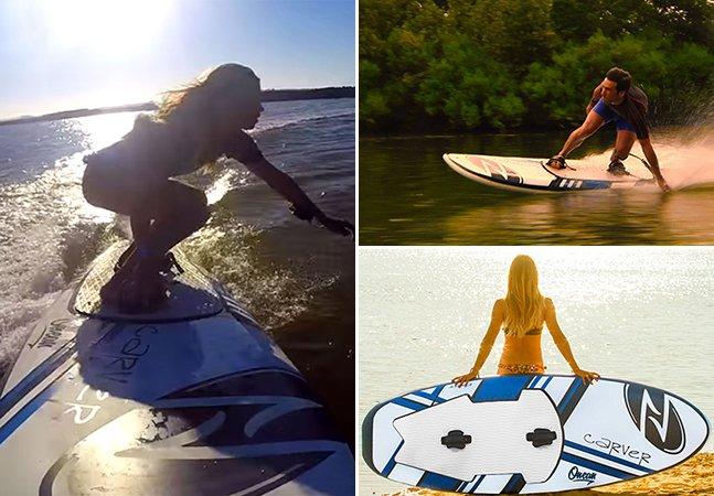 Conheça a prancha inovadora que te permite surfar mesmo sem ondas