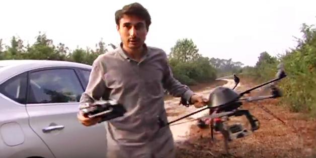 O cineasta e seu drone