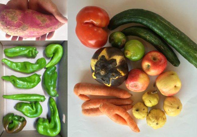 """Delivery em SP entrega com desconto frutas e verduras consideradas """"feias"""" pros mercados"""