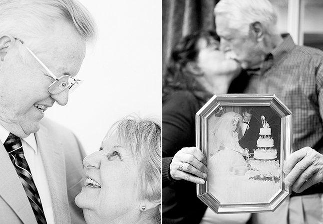 Fotógrafa documenta histórias de amor tocantes que o tempo não matou