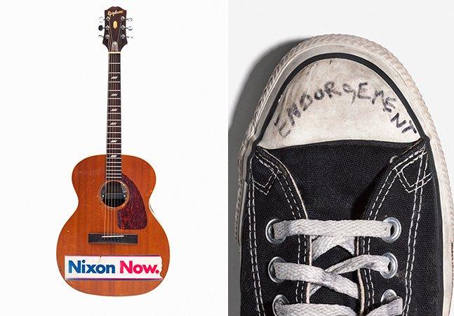 Exposição reúne imagens raras de objetos da intimidade de Kurt Cobain