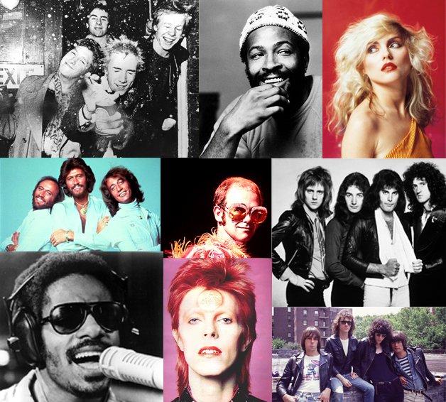 Uma pequena amostra da música da década de 1970
