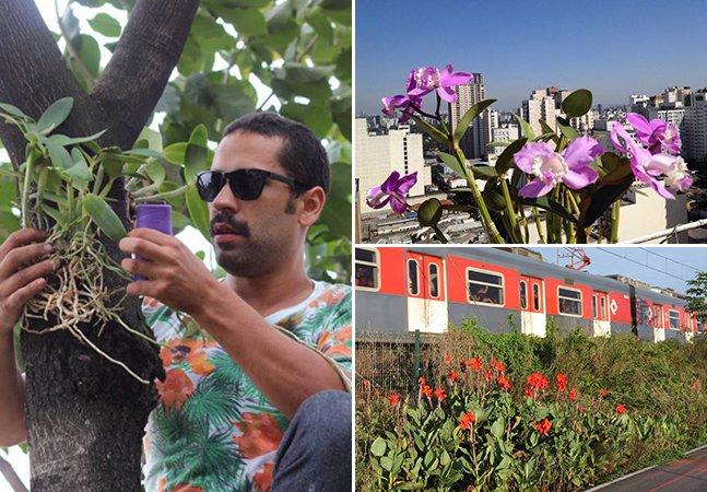 Casal planta centenas de orquídeas nas margens de rios de SP para dar mais vida à cidade
