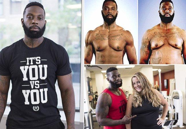 Personal trainer engorda 30kg  para incentivar aluna  ao perder peso junto com ela