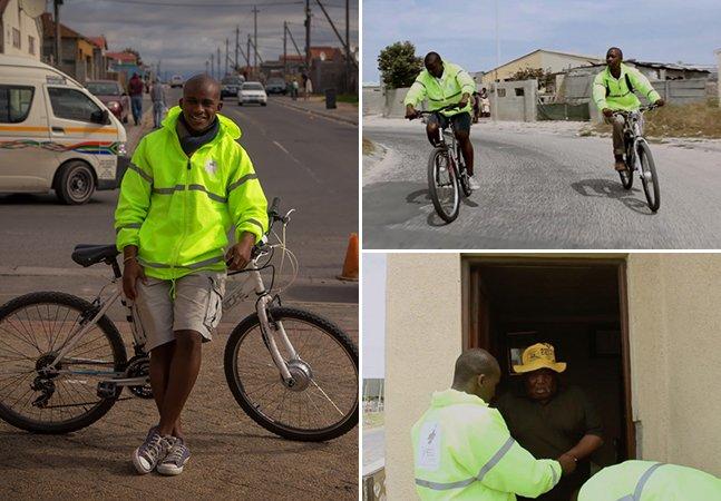 Jovem de 23 anos usa bicicleta para entregar medicamentos nas periferias de sua cidade