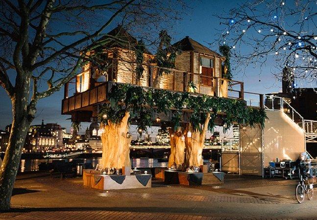 A incrível casa na árvore construída no centro de Londres