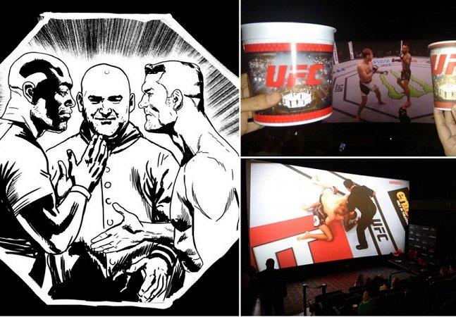 UFC com telona, HQ, pipoca e cerveja; só faltou  a vitória brasileira…