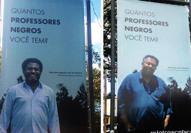 #naoecoincidencia: campanha  questiona a ausência de professores  negros nas universidades brasileiras
