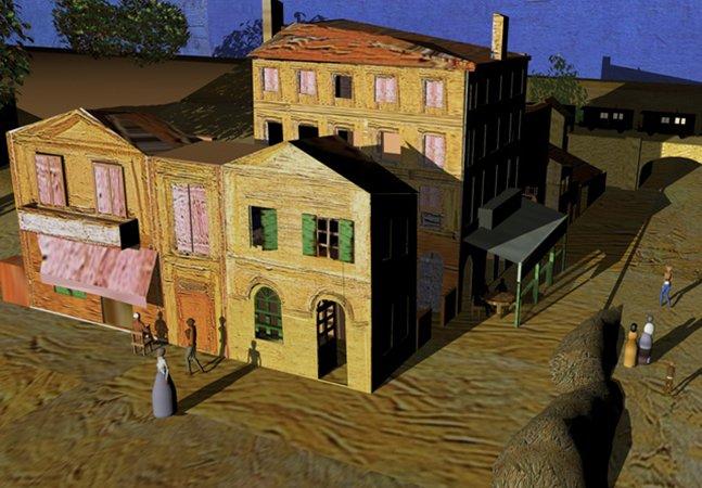 Artista usa animação 3D e video mapping para dar vida a pinturas de Van Gogh