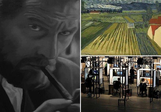O incrível novo filme sobre Van Gogh onde cada frame foi pintado a óleo no mesmo estilo do artista