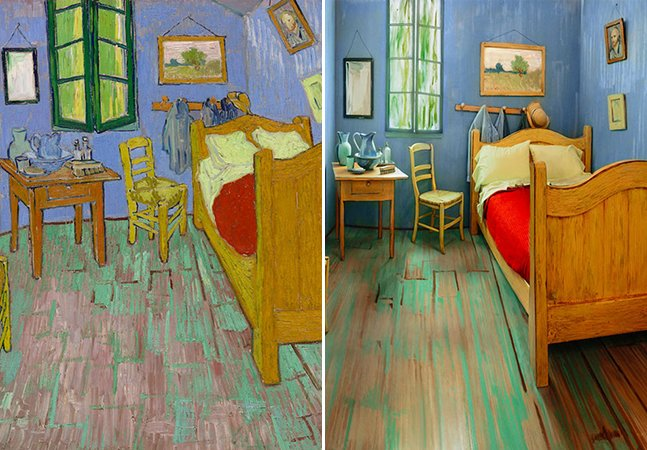 Artistas recriam o icônico quarto de Van Gogh e o disponibilizam para aluguel