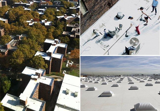 Ajude a salvar o mundo e economize dinheiro pintando os telhados de branco