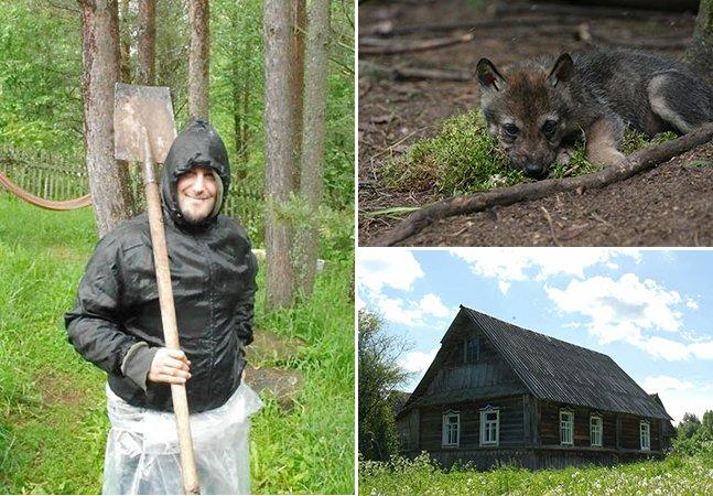 A incrível aventura de um jovem francês num santuário de lobos na Rússia