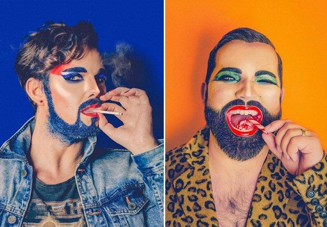 Fotógrafo cria série de barbas  masculinas com glitter;  será que a moda pega?
