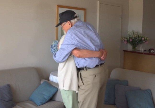 O tocante reencontro de um  casal separado na Segunda Guerra,  70 anos depois