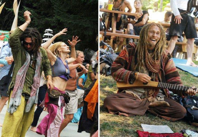 Série fotográfica mostra que  hippies do século 21 não precisam  de drogas; eles meditam e fazem yoga