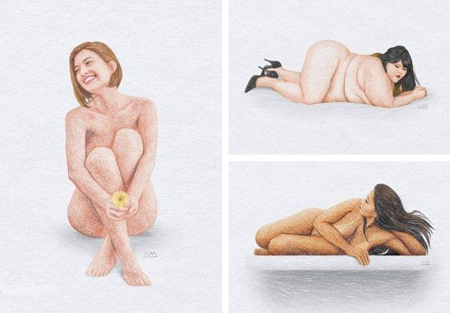Mulheres mostram qual é a sua verdadeira beleza em série de ilustrações inspiradoras [NSFW]