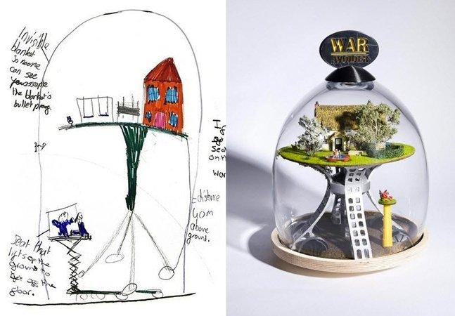 Designer transforma 'invenções malucas' de crianças em produtos reais