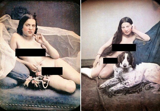 Veja algumas das primeiras fotos  eróticas coloridas da humanidade