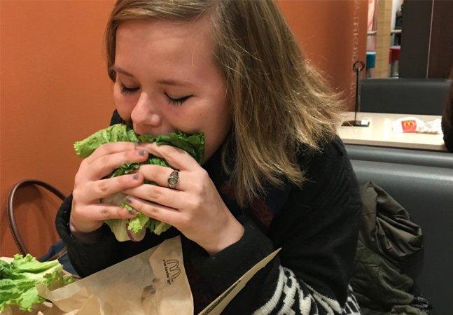 Ela decidiu se arriscar e fez  uma dieta comendo apenas  fast food por uma semana