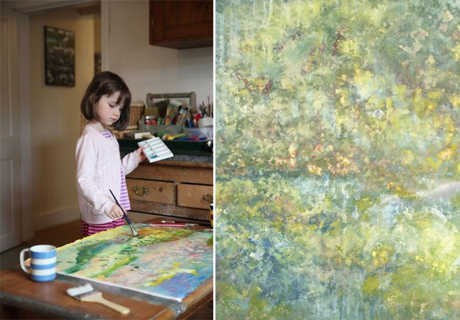 Garotinha autista de 6 anos pinta  quadros belíssimos e vende  obras até para Angelina Jolie