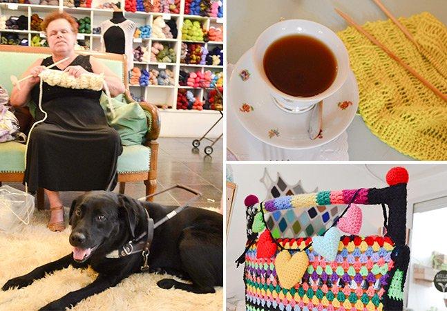 Novelaria Knit: o café em SP que une pessoas de todas as idades para tricotar