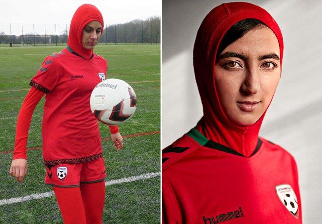 Véu especial permite que  muçulmanas joguem futebol  profissional no Afeganistão