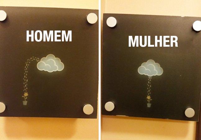 Série de fotos capta as placas de banheiro mais criativas do mundo