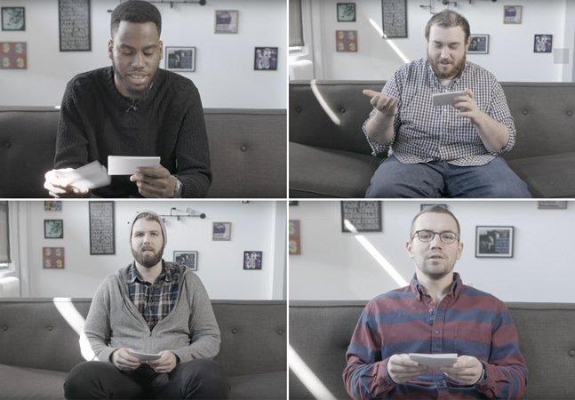 Veja a reação desses caras a  comentários sexistas recebidos por  suas colegas de trabalho pela internet