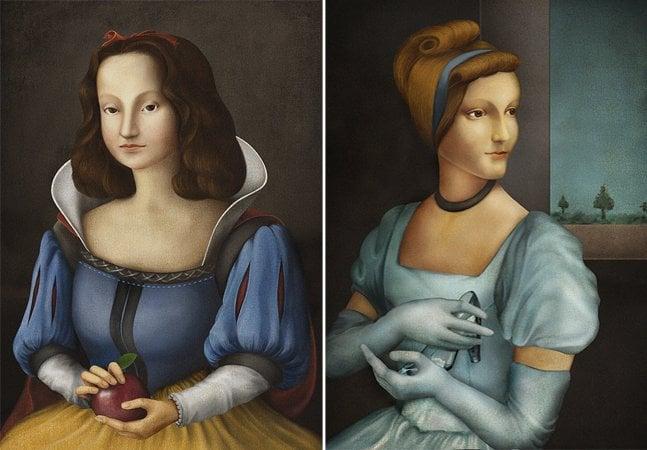 Artista transforma princesas da Disney  em quadros renascentistas