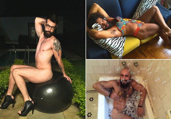 Projeto fotografa gays e heteros  nus e com adereços ditos 'femininos'  para questionar heteronormatividade
