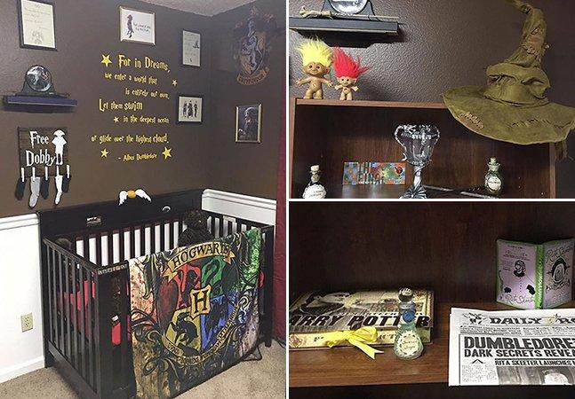 Pais transformam quarto de seu bebê para que ele se sinta dentro do mundo de Harry Potter