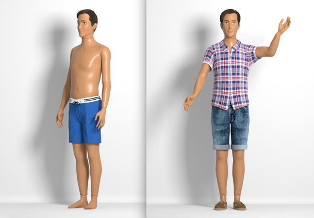 Criador da primeira Barbie com  medidas reais cria também  uma nova versão do Ken