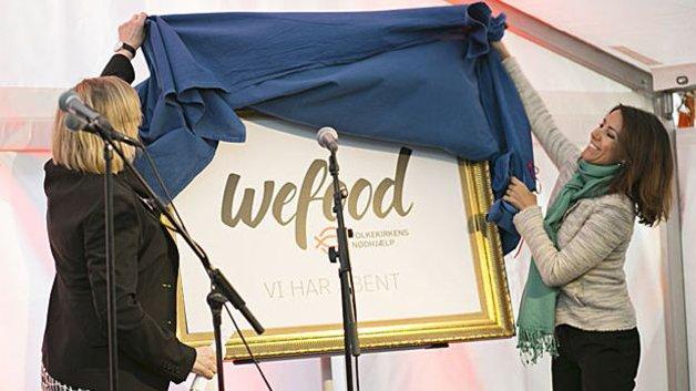 A Ministra e a princesa Marie inaugurando o Wefood