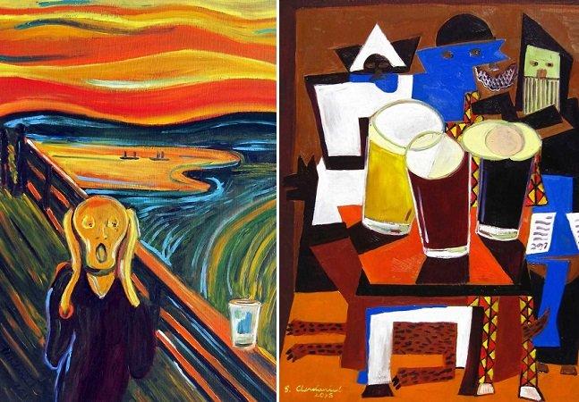 Artista adiciona cerveja  a pinturas famosas para  que as amemos mais ainda