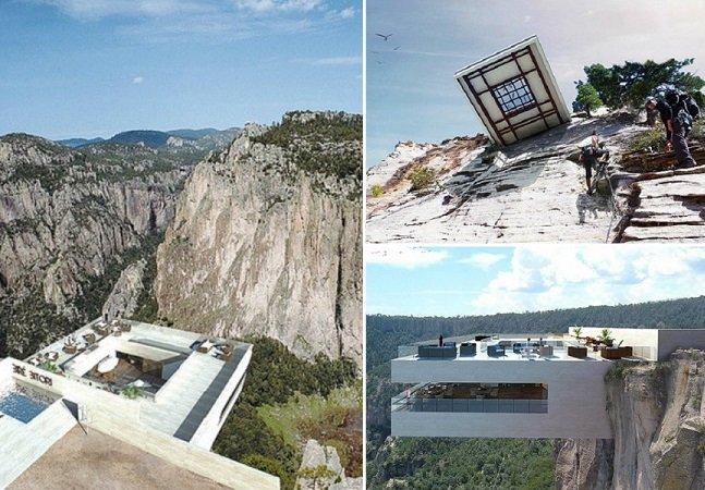 Este restaurante no alto de um  penhasco é uma das construções  mais fascinante que você já viu