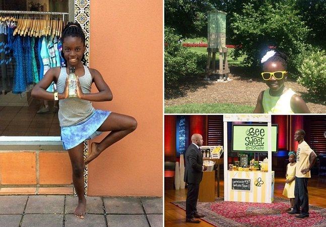 Ela ficou milionária aos 11 anos com  uma receita de limonada com mel e  agora investe na preservação das abelhas