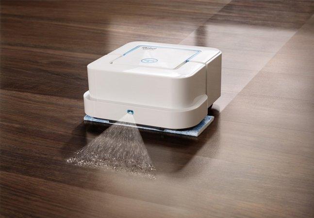 Depois do robô que aspira,  agora é a vez da máquina  que esfrega o chão sozinha