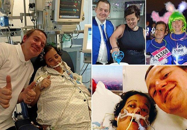 O câncer e o hospital não impediram que  eles realizassem o sonho de se casar;  e o resultado foi surpreendente