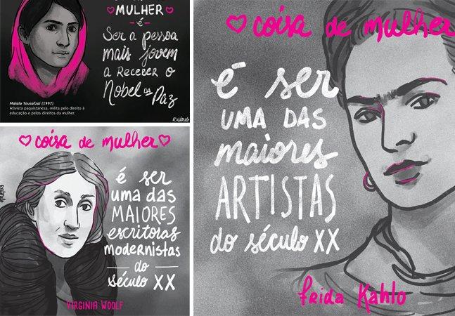 Artista cria série de ilustrações  para mostrar que coisa de  mulher é o que ela quiser