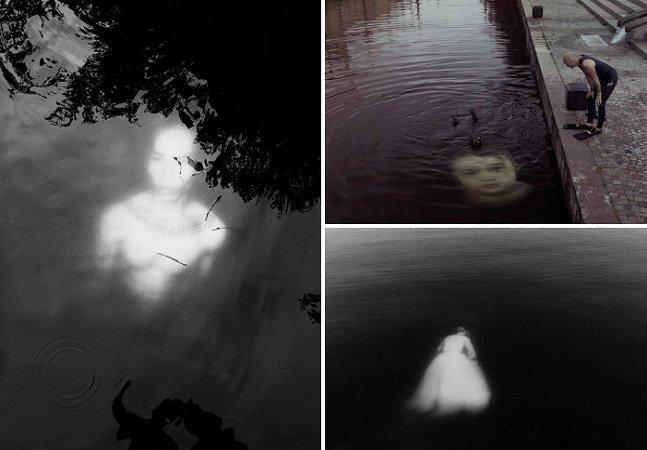Dupla de artistas de rua cria  instalação submersa aterrorizante