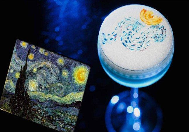 Drinques com obras de Dalí, Mondrian  e Van Gogh são de cair o queixo