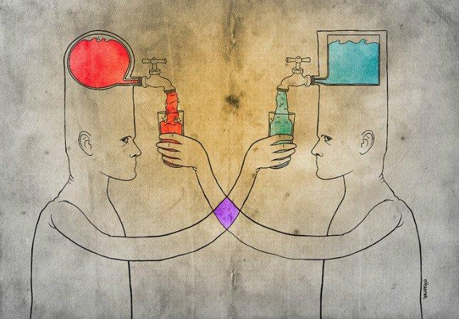 Artista deixa o subconsciente fluir para criar desenhos instigantes