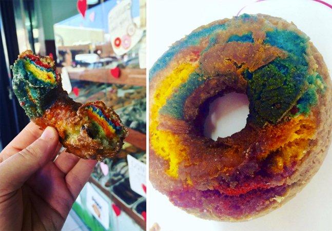 Estes incríveis donuts de arco-íris  vão te tirar do sério; e tem  tutorial pra você fazer em casa