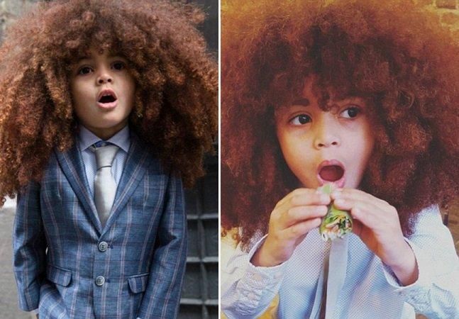 Menino de 4 anos faz sucesso na internet ao valorizar toda a beleza do cabelo afro