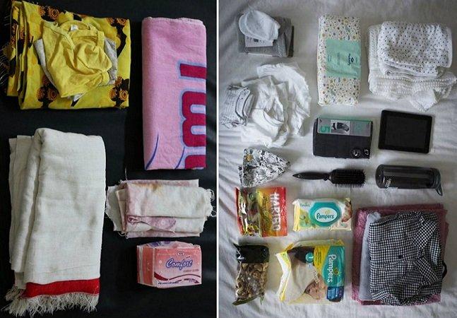 Veja o que mulheres levam na bolsa  quando vão para a maternidade  em diferentes lugares do mundo